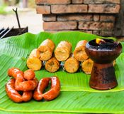 Pork and Sausage. In thailand Royalty Free Stock Photo