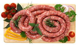 Pork sausage Stock Photography