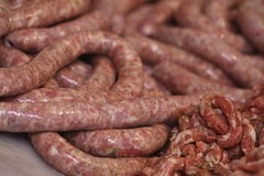 Pork sausage. A delicious pork sausage from Sicily Stock Photos