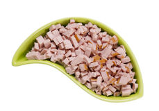 Pork sausage finely sliced Royalty Free Stock Photo