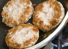 Pork sausage patties Royalty Free Stock Photos