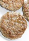 Pork sausage patties Royalty Free Stock Photos