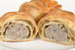 Pork sausage rolls Royalty Free Stock Photos