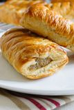 Pork Sausage Rolls in Puff Pastry royalty free stock images