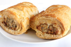 Pork sausage rolls stock photography