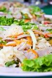 Pork Sausage Salad. Food Thailand Stock Photos