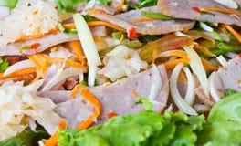 Pork Sausage Salad. Food Thailand Stock Photo