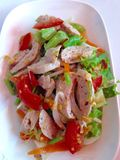 Pork sausage  salad Royalty Free Stock Images