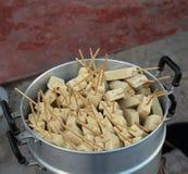 Pork sausage steam Stock Images
