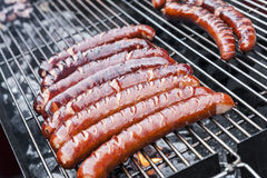 Pork sausages Royalty Free Stock Photo