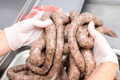 Pork sausages Royalty Free Stock Photography