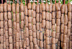 pork sausages food of native in Thailand Stock Images