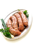 Pork sausages for frying. Royalty Free Stock Photo