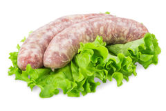 Pork sausages with salad Stock Photo