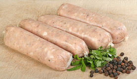 Pork sausages wit black pepper Royalty Free Stock Photography