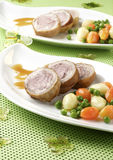 Pork scallopini Royalty Free Stock Images