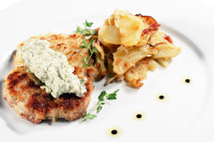 Pork Schnitzel Royalty Free Stock Photography
