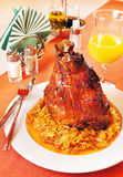 Pork shank with braised cabbage Royalty Free Stock Photos