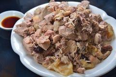 Pork Shank leftover. Chinese pork shank soup leftover Royalty Free Stock Images