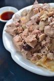Pork Shank leftover. Chinese pork shank soup leftover Stock Image