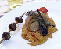 Pork shank with risotto Stock Image