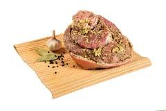 Pork shank with spices Stock Photos
