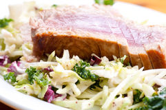 Pork side ribs. Some juicy barbequed organic pork side ribs stock photography