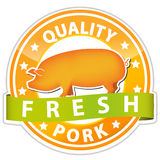 Pork sign Royalty Free Stock Photography