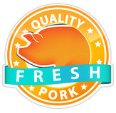 Pork sign Royalty Free Stock Photos
