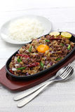 Pork sisig, filipino cuisine Royalty Free Stock Photos