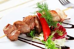 Pork skewer Royalty Free Stock Images