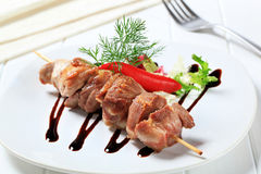 Pork skewer Stock Photography