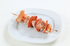Pork skewer Royalty Free Stock Photography