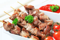 Pork skewers Royalty Free Stock Images