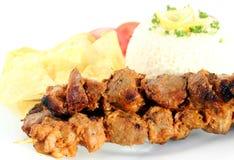 Pork skewers Royalty Free Stock Images