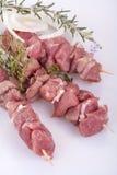 Pork skewers Royalty Free Stock Image