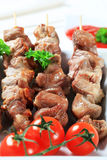 Pork skewers Royalty Free Stock Photography