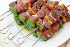 Pork skewers Royalty Free Stock Image