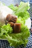 Pork skin sausage Stock Photos