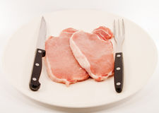 Pork slice. Stock Images