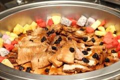 Pork slice and sauce Stock Image