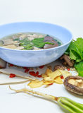 Pork soup. And herb,vegetables is very delicious and very beautiful stock photos