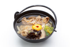 Pork Soup over White stock images