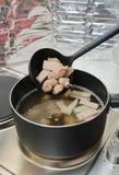 Pork in the soup pot Stock Image