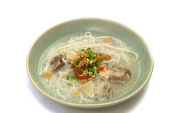 Pork Spare Ribs Rice Noodles Soup Stock Images
