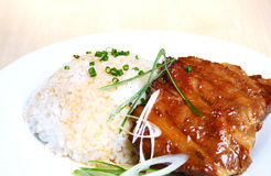 Pork Spare Ribs With Rice Royalty Free Stock Images
