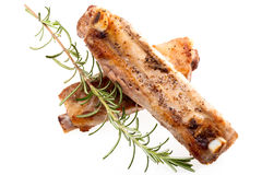 Pork Spareribs With Rosemary Stock Photos