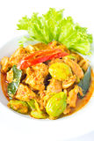 Pork in spicy curry Stock Images