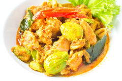 Pork in spicy curry. Of Thailand food style stock photography