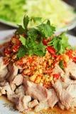Pork spicy lemon  - asia food Stock Image